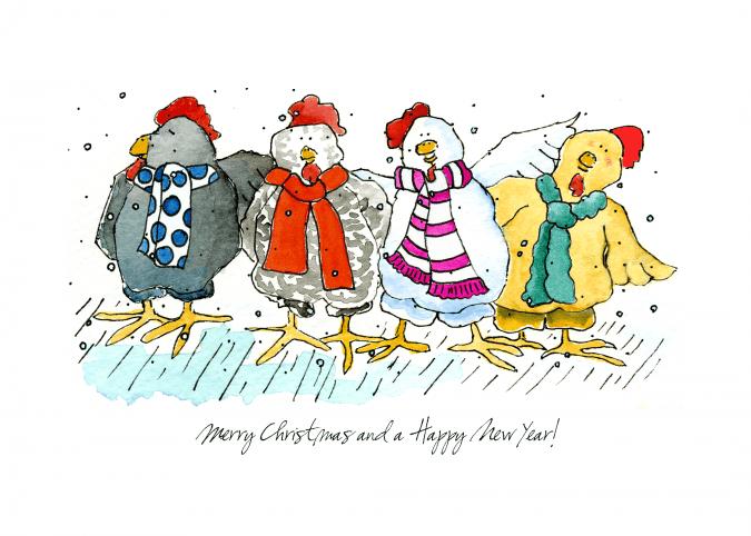 Hens Christmas