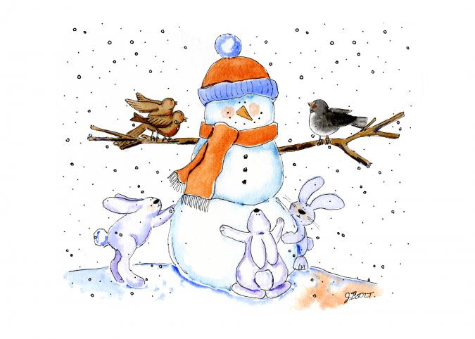 Somebunny's Snowman